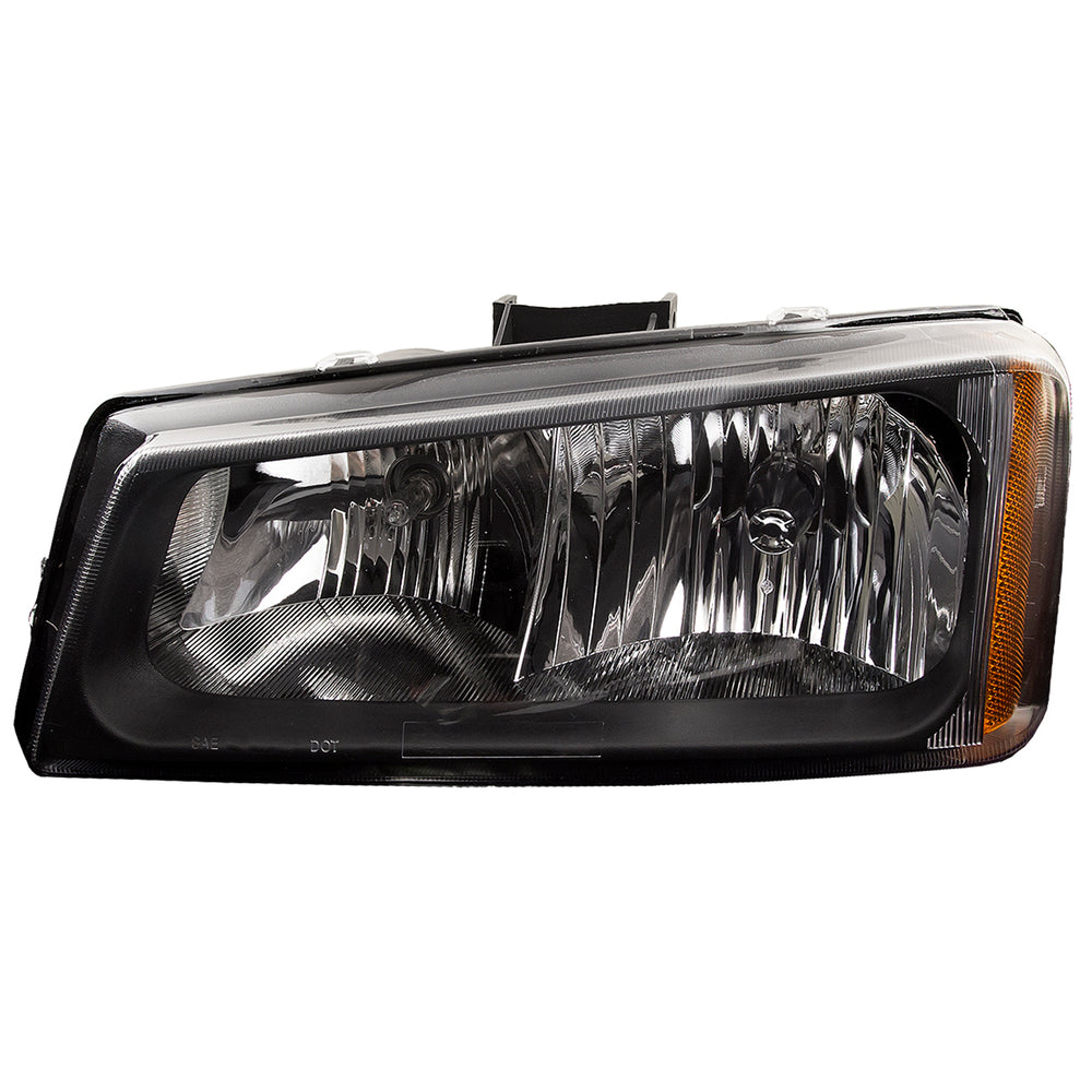 Headlight Black Housing Driver Left Assembly Fits 2005-2007 Chevrolet Silverado