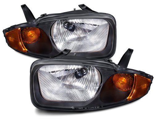 Headlights Set Left Driver Right Passenger Pair Fits 2003-2005 Chevrolet Cavalier