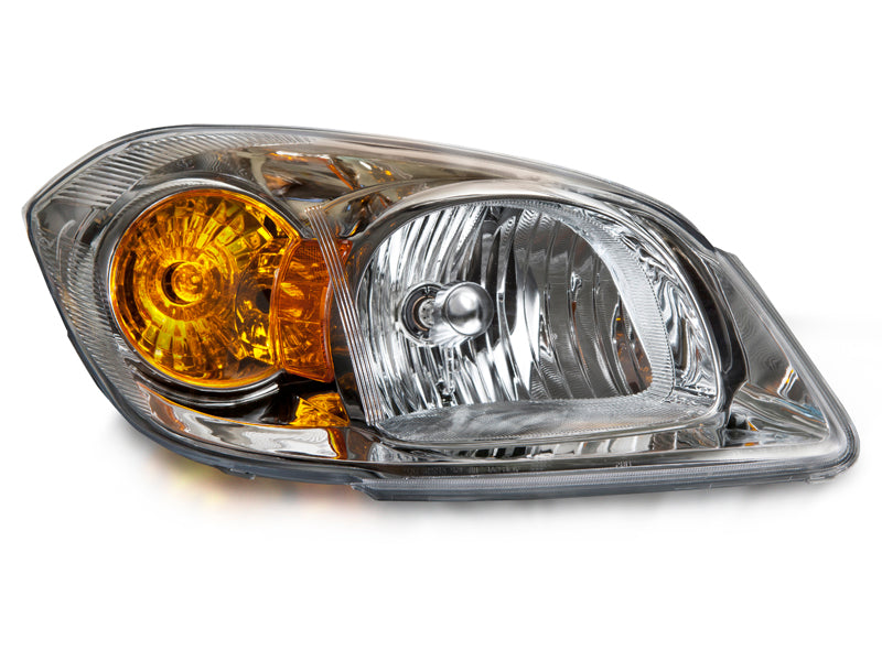 Headlight Halogen Chrome Right Passenger w/o Bracket Fits 2005-2010 Chevrolet Cobalt