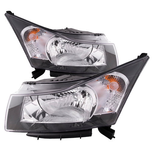 2012-2015 Chevy Cruze (2nd Design) Halogen Headlights Set Driver Left Passenger Right Pair Assembly