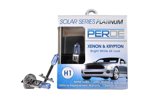 PERDE Solar Series Platinum H1 Xenon-Enhanced Halogen Bulbs Left & Right Pair