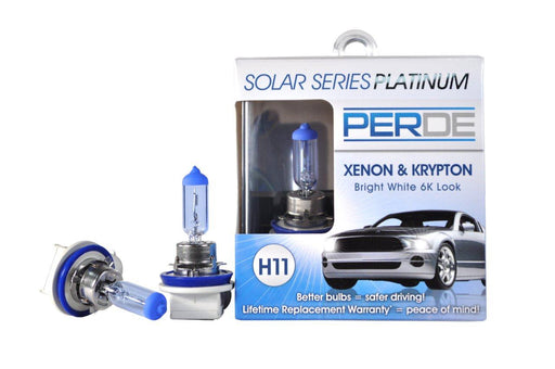 PERDE Solar Series Platinum H11 Xenon-Enhanced Headlight Bulbs Left & Right Pair