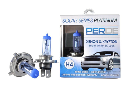 PERDE Solar Series Platinum H4 Xenon-Enhanced Halogen Bulbs Left & Right Pair
