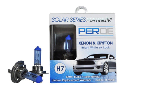 PERDE Solar Series Platinum H7 Xenon-Enhanced Headlight Bulbs Left & Right Set