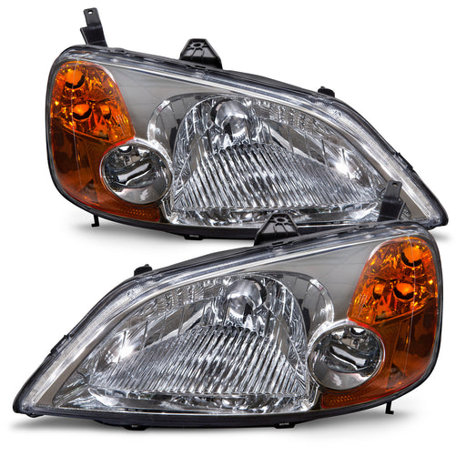 2001-2003 Honda Civic 4-Door Sedan Headlight Set