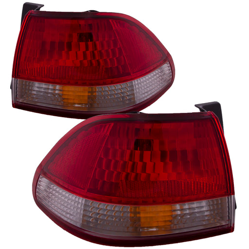 Tail Lights Set Body Mounted Right Passenger Driver Left Pair Fits 2001-2002 Honda Accord Sedan