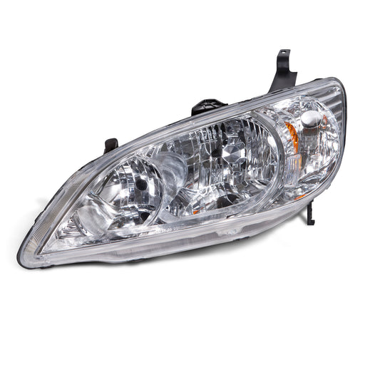 Headlight Halogen Driver Left For 2004-2005 Honda Civic (Fits Coupe and Sedan)
