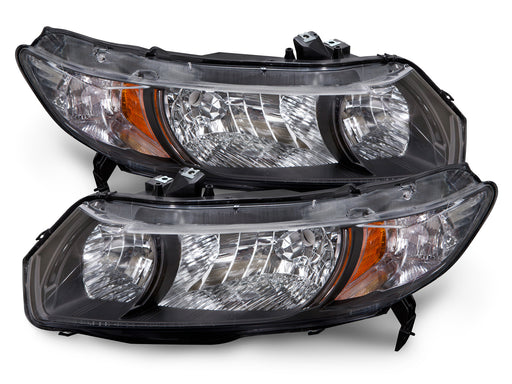 2010-2011 Honda Civic 2-Door Coupe Headlights Set