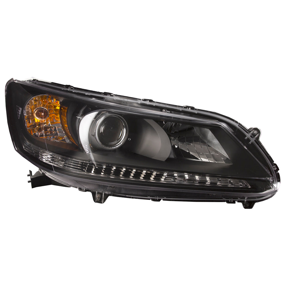 Headlight Right Passenger Side Assembly Replacement For Honda Accord Sedan 13-15