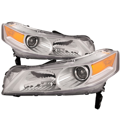 Headlights HID Type (w/o HID Kit) Right Passenger Left Driver Pair Fits 2009-2011 Acura TL
