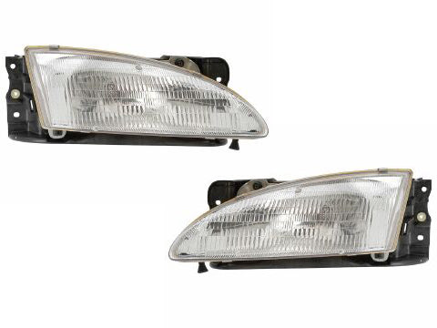 1996-1998 Hyundai Elantra Head Light Set
