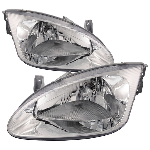 1999-2000 Hyundai Elantra Headlights Set Driver Left Passenger Right Pair Halogen-Type Assembly