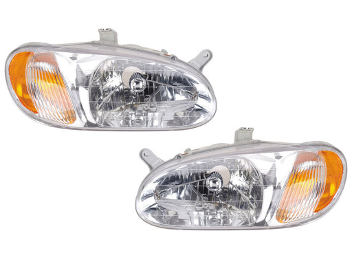 1998-2001 Kia Sephia Replacement Headlight Set