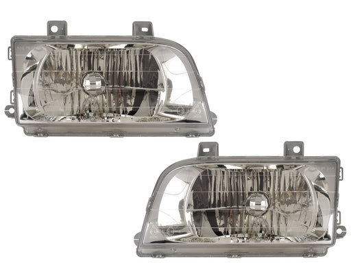 Headlights Set Left Driver Right Passenger Pair Fits 1998-2002 Kia Sportage