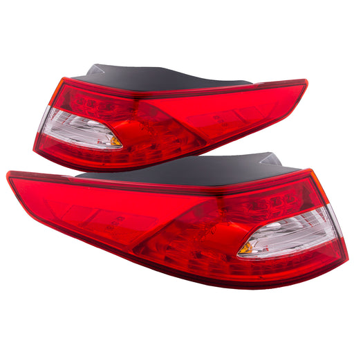 Tail Lights Set LED Type Left Driver Right Passenger  Sedan/4Dr Pair Fits 2011-2013 Kia Optima