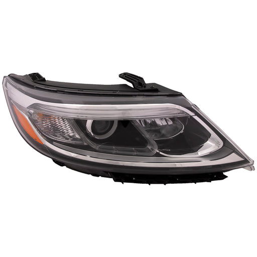 Headlight Halogen w/Auto Level Control (w/o LED Accents) Right Passenger Fits 2014-2015 Kia Sorento LX