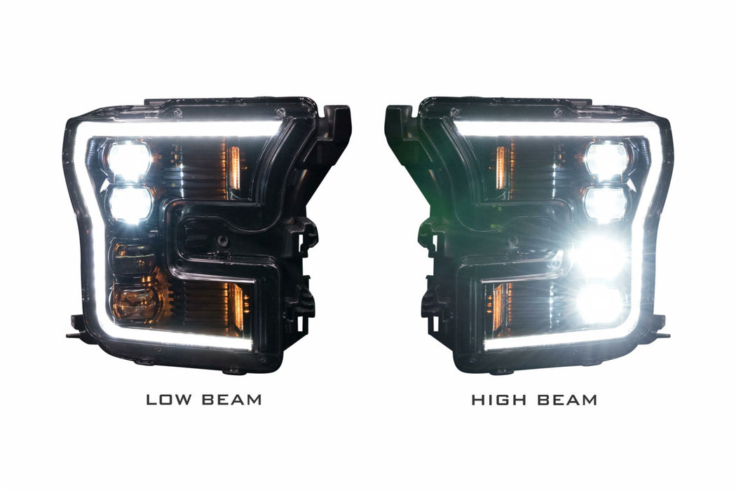 Morimoto XB LED Plug And Play Headlights Set With White DRL / Black Housing For Ford F-150 15-17