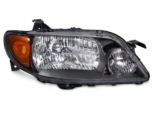 2001-2003 Mazda Protege 4-Door Sedan Passenger Side Headlight with Metal Bezel