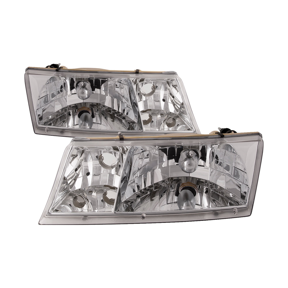 Fleetwood Southwind 2007-2008 Motorhome RV Left and Right Chrome Headlights Pair