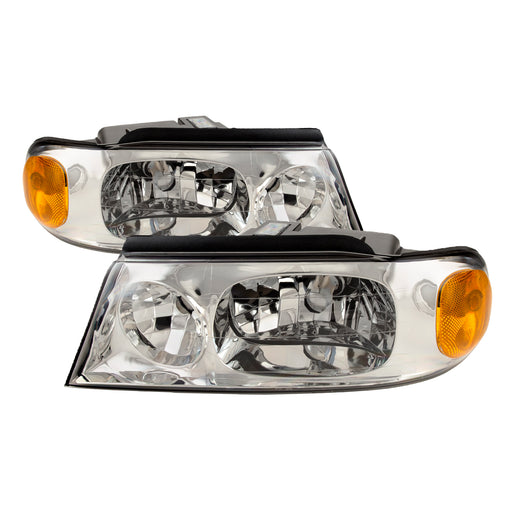 Holiday Rambler Neptune 2002-2005 Motorhome RV Left and Right Chrome Headlights Pair