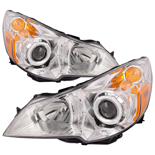 Headlights Halogen Set Left Driver Right Passenger Pair Fits 2010-2012 Subaru Legacy/2010-2012 Outback
