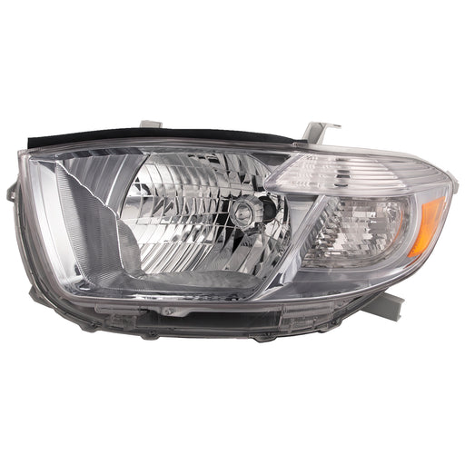 Headlight Black (Japan Built) Driver Left Side Assembly Fits 2008-2010 Toyota Highlander