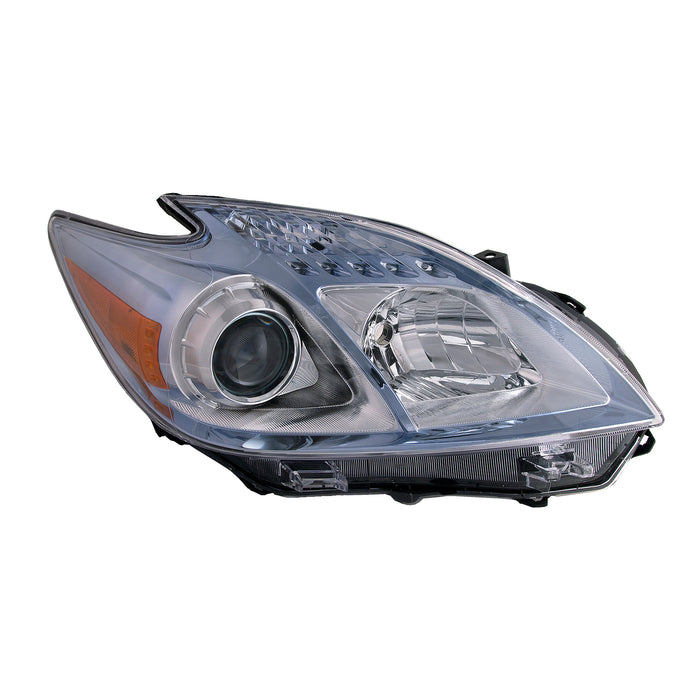 Headlight Chrome Halogen Right Passenger Fits 2010-2011 Toyota Prius