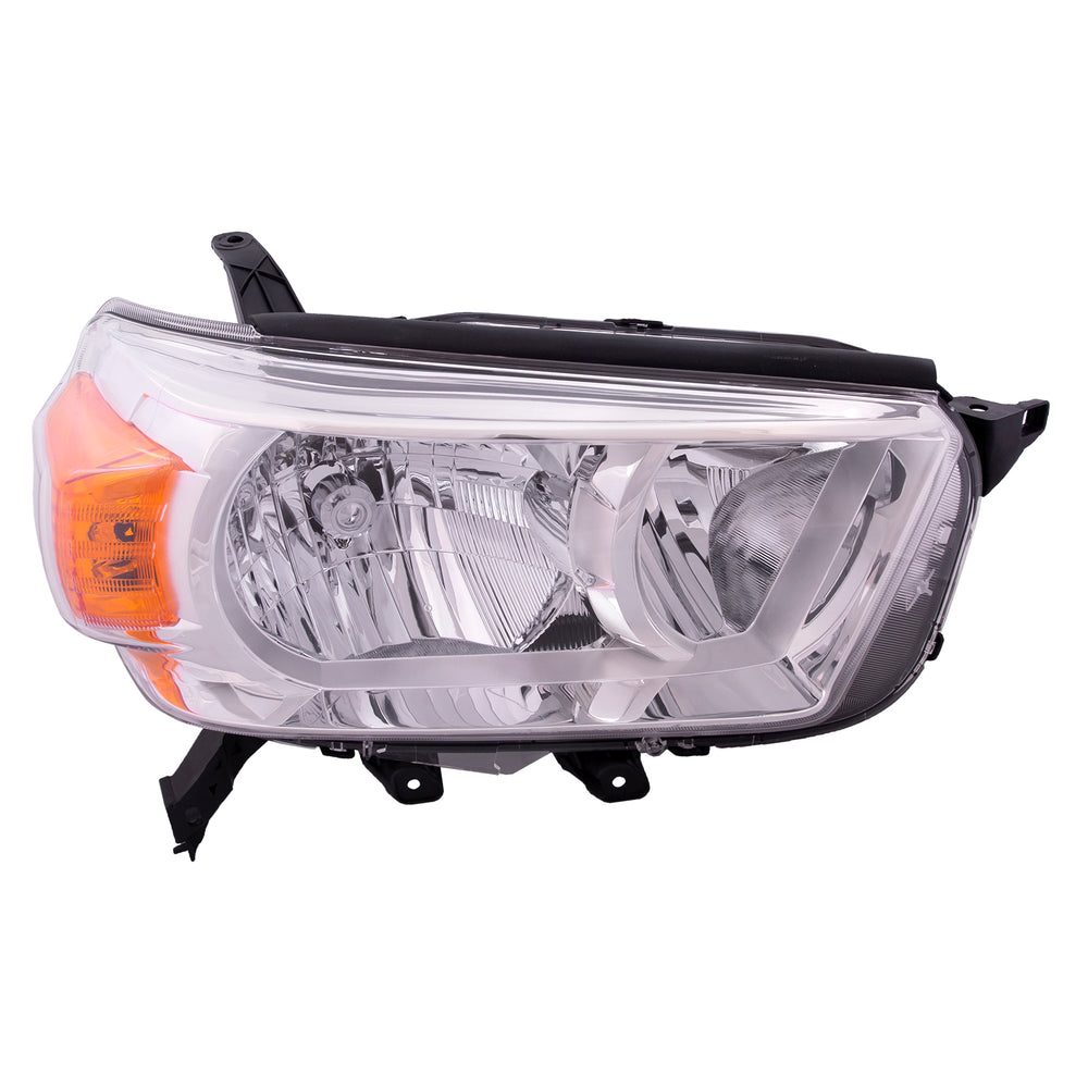 Headlight Halogen Type (w/o Trail Pkg) Passenger Right Fits 2010-2013 Toyota 4Runner Limited SR5 Model