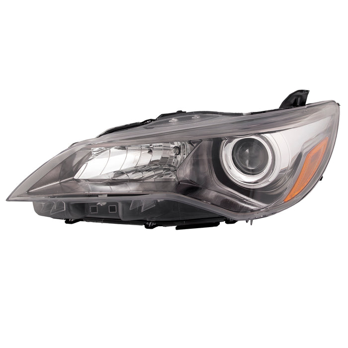 Headlight Halogen Projector Black Housing 4Dr Sedan Driver Left Fits 2015-2017 Toyota Camry SE XSE Special Edition