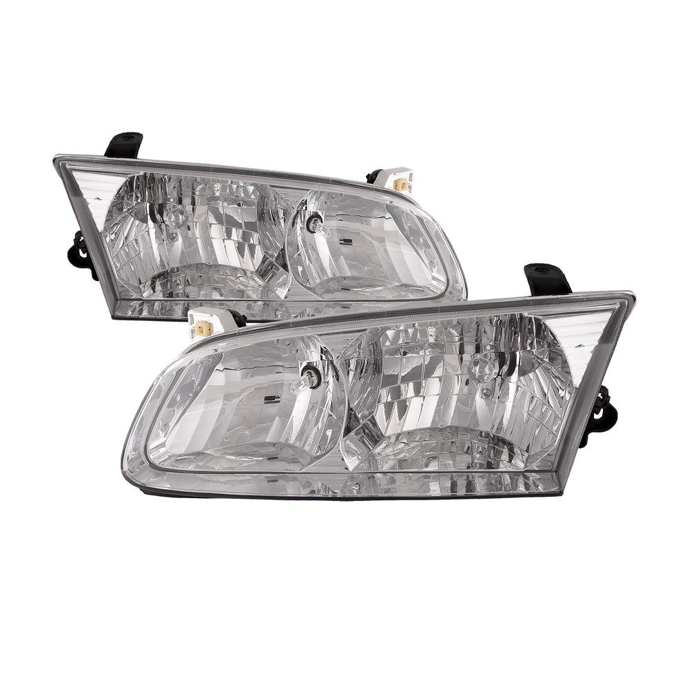Headlight Halogen Chrome Left Right Set Pair Fits 2000-2001 Toyota Camry CE/LE/XLE