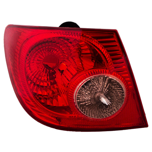 Tail Light w/ Clear Lens Left Driver Side Assembly Fits 2005-2008 Toyota Corolla