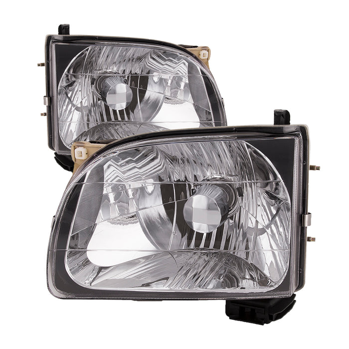 2001-2004 Toyota Tacoma Headlights Set w/Xenon Bulbs