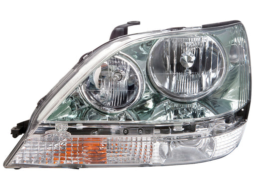 Headlight Halogen Chrome Left Driver Fits 2001-2003 Lexus RX300