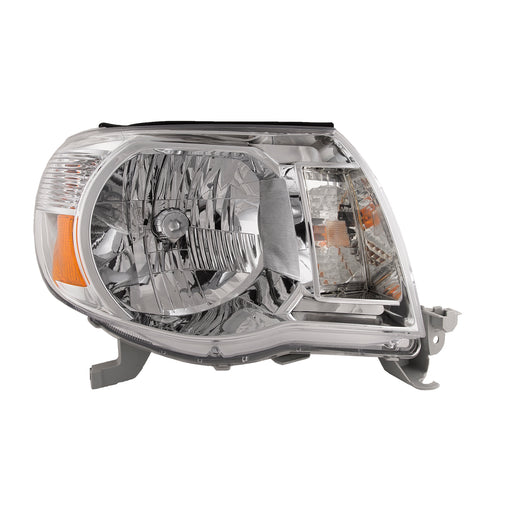 Headlights Halogen w/Amber Set w/o Sports Package Right Passenger Fits 2005-2011 Toyota Tacoma Pre Runner/ X-Runner Models