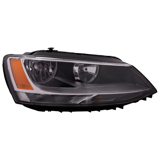 Headlight Halogen 4 Door Right Passenger Side Fits 2011-2016 Volkswagen Jetta