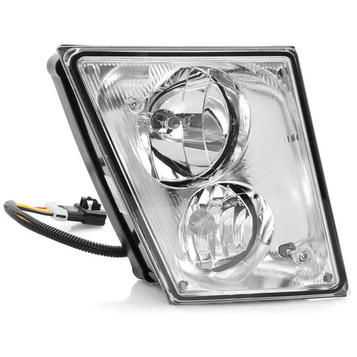 Fog Lamp Chrome Housing w/Dual Bulbs Left Driver Fits 2003-2015 Volvo VN/VNL