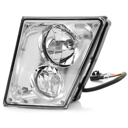 Fog Lamp Chrome Housing w/Dual Bulbs Right Passenger Fits 2003-2015 Volvo VN/VNL