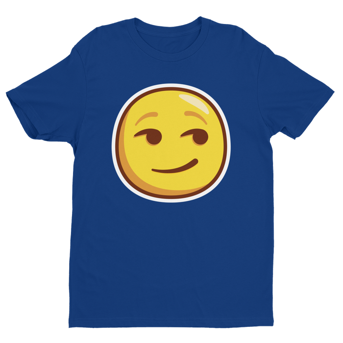 Smirking Emoji Short Sleeve Next Level T-shirt