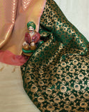 Banarasee satin Brocade Silk Fabric 161