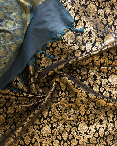 Banarasee Satin Brocade Silk Fabric 160