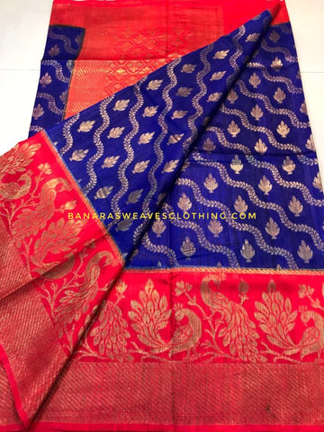 Banarasee Pure Kora Silk Saree 075