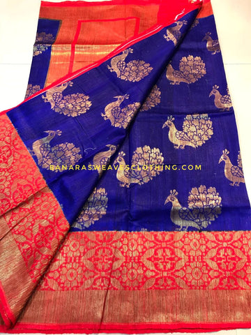 Banarasee Pure Kora Silk Saree 077
