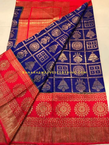 Banarasee Pure Kora Silk Saree 069