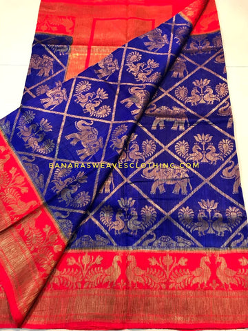 Banarasee Pure Kora Silk Saree 070