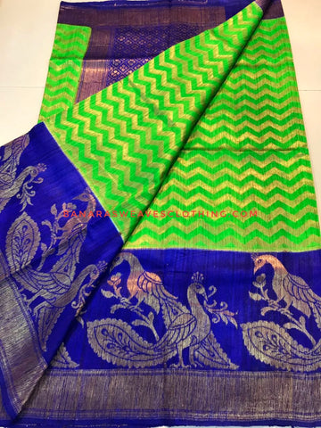 Banarasee Pure Kora Silk Saree 076