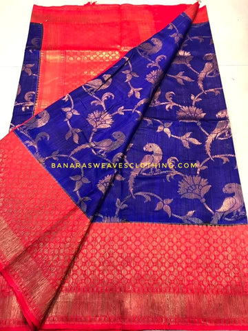 Banarasee Pure Kora Silk Saree 073