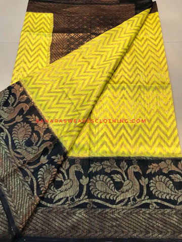 Banarasee Pure Kora Silk Saree 078