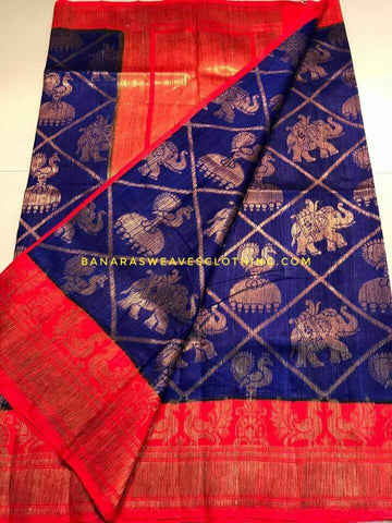 Banarasee Pure Kora Silk Saree 071