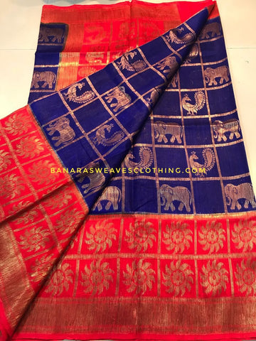 Banarasee Pure Kora Silk Saree 072