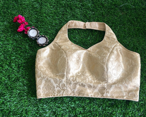 Banarasee Satin Brocade Silk Blouse 039